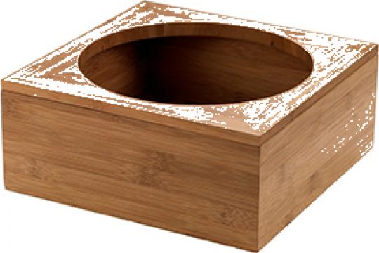 Suport bambus Leone pentru carafa 20x20x8cm, diametru 16cm de la Basarom Com
