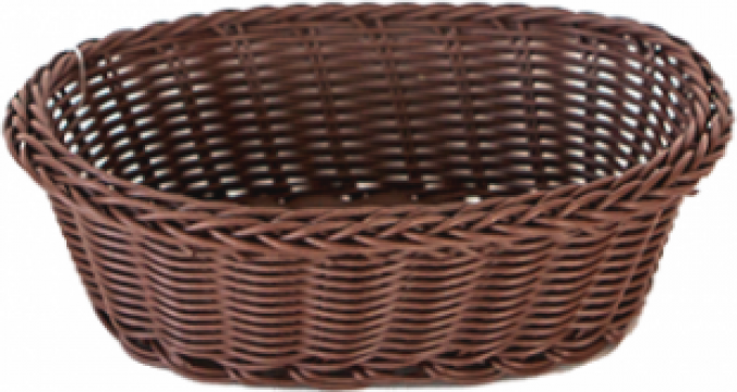 Cos servire paine oval Raki 21x16x7cm culoare cafea de la Basarom Com