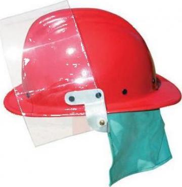 Casca PSI cu vizor (rosu/verde)