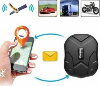 GPS tracker TK905 monotorizare + incarcator auto de la Trolii-auto.ro
