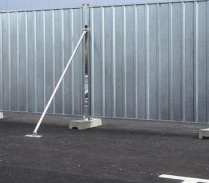 Gard mobil opac organizare de santier - zincat de la Americasa Srl
