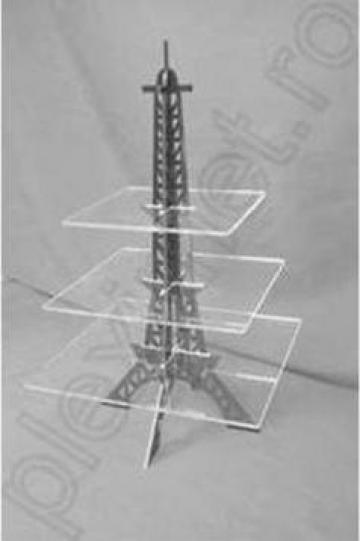 Suport prajituri turn Eiffel pentru candy-bar Spev 29.2 de la Sc Plexi-Met Srl