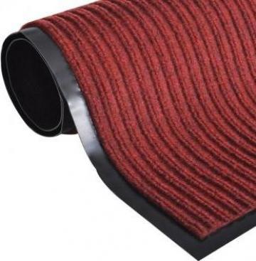Covoras intrare PVC rosu 90 x 150 cm de la Vidaxl