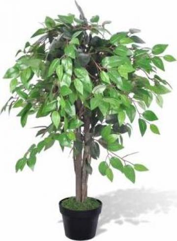 Ficus artificial cu aspect natural si ghiveci, 90 cm de la Vidaxl