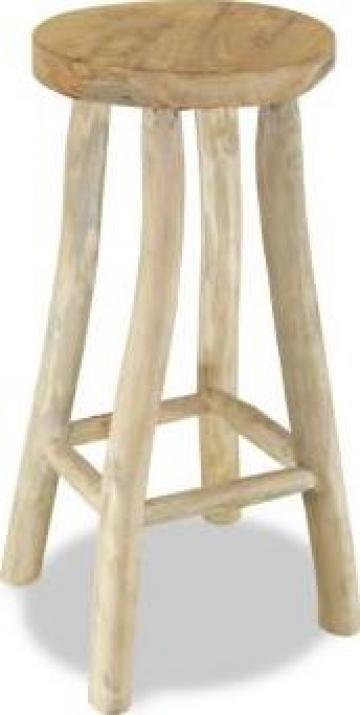 Taburet de bar, lemn de tec, maro de la Vidaxl