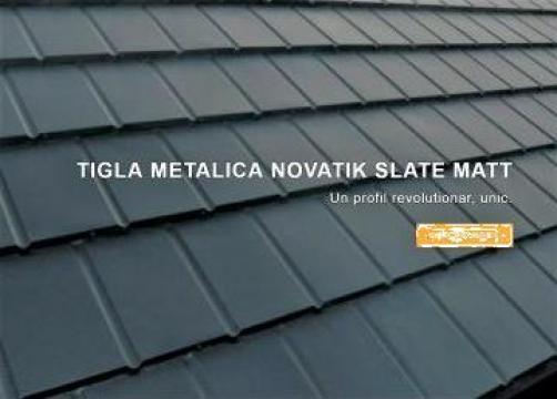 Tigla metalica Novatik Slate Matt de la Ideal Construct