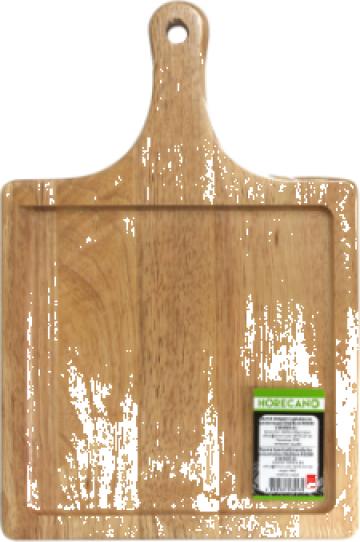 Platou patrat cu maner prezentare servire Raki 28x28cm lemn de la Basarom Com