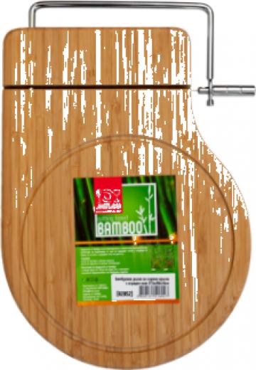 Tocator bucatarie bambus branzeturi cu cutit integrat Raki de la Basarom Com