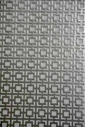 Tabla otel perforata GF5 1x1000x2000mm gaurita stantat de la MRG Stainless Group Srl