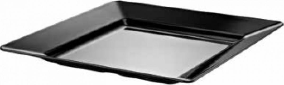 Farfurie patrata melamina Raki Este 46x46x4,7cm alb de la Basarom Com