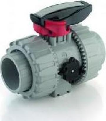 Robinet cu bila PVC-C VKD Dual Block DN10 - DN50 de la Weldplast Technology Srl