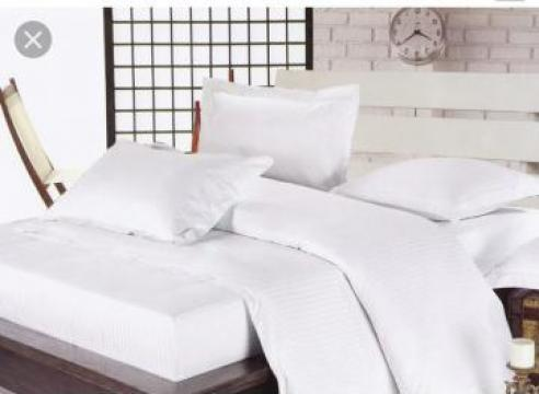 Lenjerie de pat pentru hoteluri din Damasc de la Sc Atelier Blue Srl