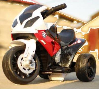 Jucarie mini motocicleta electrica BMW S1000RR #Rosu de la SSP Kinderauto & Beauty Srl