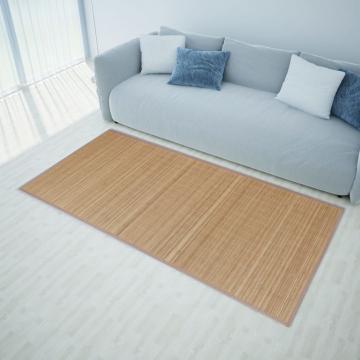 Carpeta dreptunghiulara din bambus 150 x 200 cm, maro