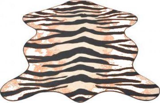 Covor cu forma si imprimeu de tigru, 150 x 220 cm