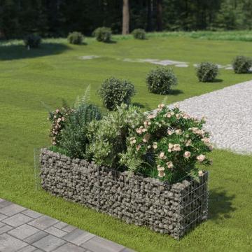 Jardiniera gabion, otel galvanizat, 180 x 50 x 50 cm
