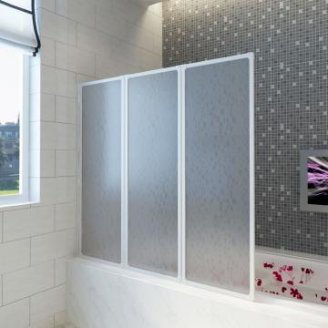 Panou separeu pentru baie 141 x 132 cm pliabil in 3 de la Vidaxl