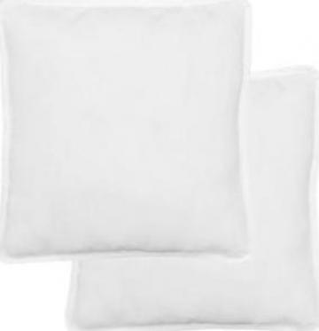 Perna, 80 x 80 cm, alb, 2 buc. de la Vidaxl