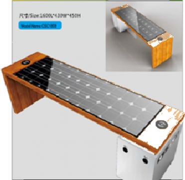 Banca Smart cu panou solar CSC1808 de la Samro Technologies Srl