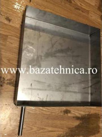 Tava condens din inox cu stut 100x500x500 mm de la Baza Tehnica Alfa Srl