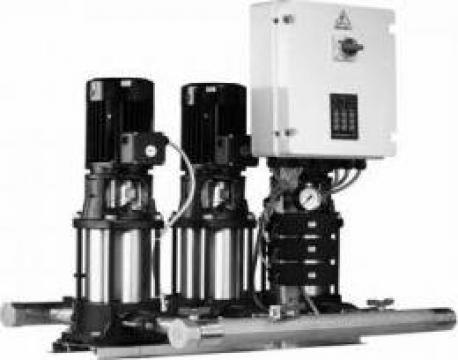 Grup de pompare apa cu 3 pompe verticale Grundfos de la Master Engineering Srl