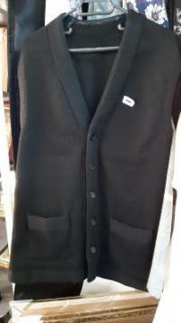 Vesta neagra tricotata de la Chris World Srl