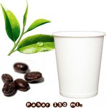 Pahar din carton alb 150/200 ml. (6 oz) set - 100 buc. de la Tinkoff Srl