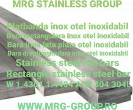 Platbanda inox 60x4x4000 304 W 1.4301 316L W1.4404 bara inox de la MRG Stainless Group Srl