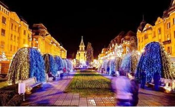 Perdele luminoase pentru iluminat festiv de la Electrofrane