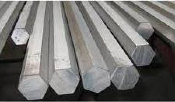 Bara aluminiu hexagonala 27mm hexagon duraluminiu 6082 2007 de la MRG Stainless Group Srl