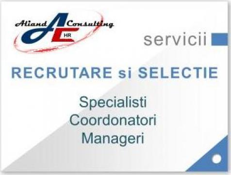 Recrutare specialisti si manageri de la Aliand Consulting SRL