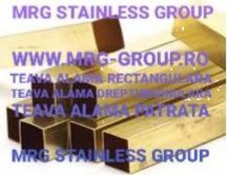 Teava alama patrata 25x25x1.5 rectangulara aluminiu inox de la MRG Stainless Group Srl