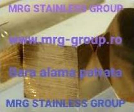 Bara alama patrata 41x41mm rectangulara aluminiu, cupru de la MRG Stainless Group Srl
