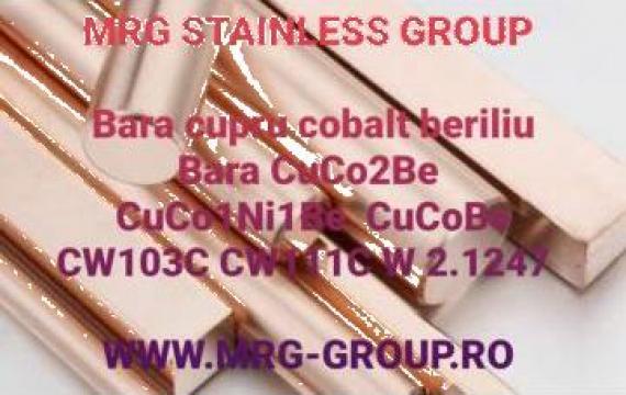Bara cupru cobalt beriliu CuCoBe CuBe2 CuCo1Ni1Be CW103C de la MRG Stainless Group Srl