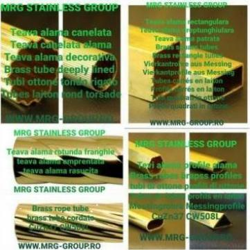 Teava alama patrata 35x35x1.5 rectangulara aluminiu inox de la MRG Stainless Group Srl