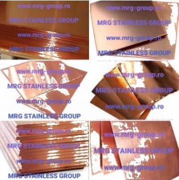 Benzi cupru 99.9%Cu rulou cupru, tabla, cupru, bara de la MRG Stainless Group Srl