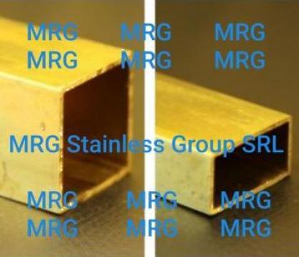 Teava alama patrata 50x50x2 rectangulara CuZn37 CW508L de la MRG Stainless Group Srl