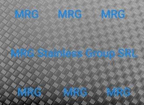 Tabla aluminiu striata Quintett 3x1500x3000mm Diamond inox de la MRG Stainless Group Srl