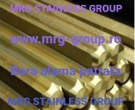 Bara patrata alama 20x20x3000mn CuZn39Pb3 CW614 de la MRG Stainless Group Srl