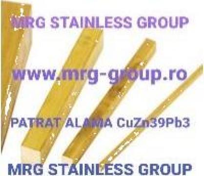 Bara patrata alama 8x8x3000mm de la MRG Stainless Group Srl