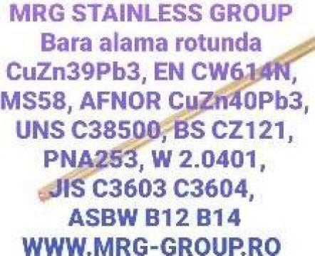 Bara alama rotunda 7x3000mm rotund alama CuZn39Pb3 CW614N