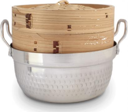 Steamer din bambus 1 nivel cu vas de la Expert Factor Foods Srl