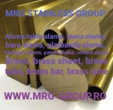 Bara alama dreptunghiulara 30x25mm, platbanda rectangulara de la MRG Stainless Group Srl