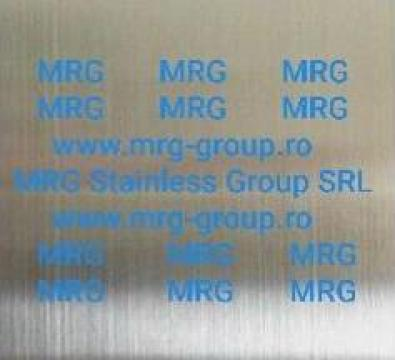 Tabla inox 1mm mata oglinda satinata Scotch Brite SuperMiror de la MRG Stainless Group Srl