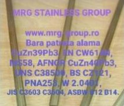 Bara alama patrata 14x14mm Patrat alama CuZn39Pb3 CW614N de la MRG Stainless Group Srl