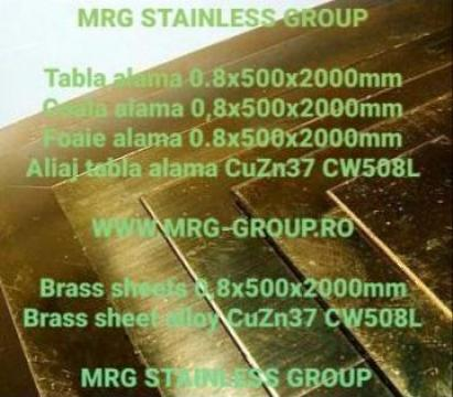 Tabla alama 0.8x500x2000mm CuZn37 CW508L