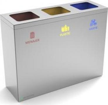 Cos de gunoi premium, inox, colectare selectiva deseuri de la Bins Factory
