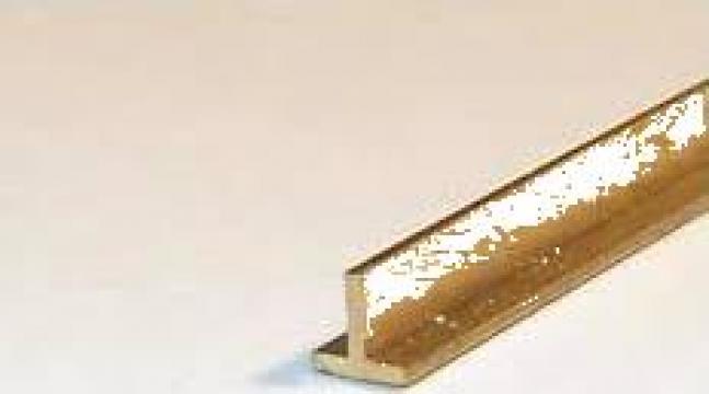 Profil T alama 15x15x2 teu alama aluminiu cupru inox CuZn37