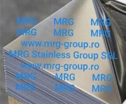 Tabla inox oglinda 0.4x1000x2000mm lucioasa lustruita BA+PVC de la MRG Stainless Group Srl