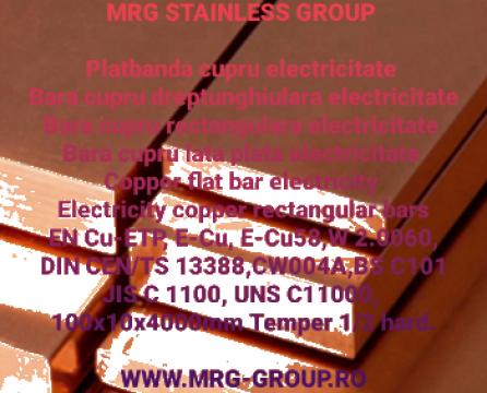 Tabla cupru CuBe2 CW101C W 2.1247 Beryllium copper sheet de la MRG Stainless Group Srl